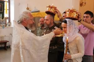 Венчание казачьей семьи Александра и Ирины в храме Серафима Саровского, 29.07.2016